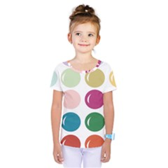 Brights Pastels Bubble Balloon Color Rainbow Kids  One Piece Tee