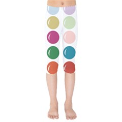 Brights Pastels Bubble Balloon Color Rainbow Kids  Capri Leggings  by Mariart