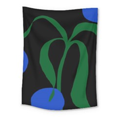 Flower Green Blue Polka Dots Medium Tapestry by Mariart