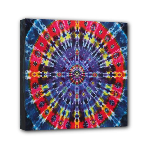 Circle Purple Green Tie Dye Kaleidoscope Opaque Color Mini Canvas 6  X 6  by Mariart