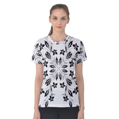 Floral Element Black White Women s Cotton Tee by Mariart