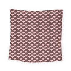 Chocolate Pink Hearts Gift Wrap Square Tapestry (small) by Mariart