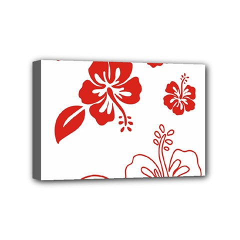 Hawaiian Flower Red Sunflower Mini Canvas 6  X 4  by Mariart