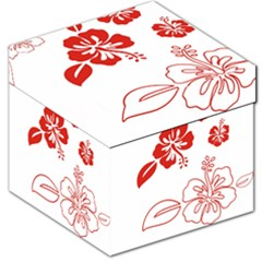 Hawaiian Flower Red Sunflower Storage Stool 12   by Mariart