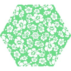 Hibiscus Flowers Green White Hawaiian Mini Folding Umbrellas by Mariart