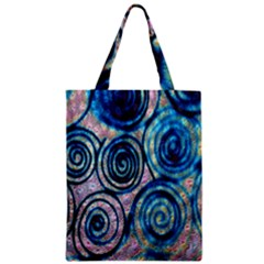 Green Blue Circle Tie Dye Kaleidoscope Opaque Color Zipper Classic Tote Bag by Mariart