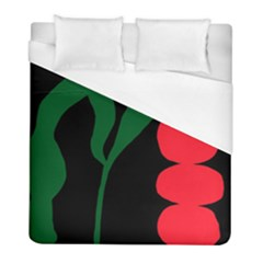 Illustrators Portraits Plants Green Red Polka Dots Duvet Cover (full/ Double Size) by Mariart