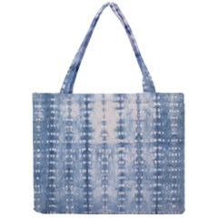 Indigo Grey Tie Dye Kaleidoscope Opaque Color Mini Tote Bag by Mariart