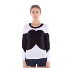 Mustache Owl Hair Black Man Women s Long Sleeve Tee by Mariart
