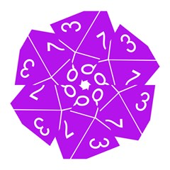 Number Purple Mini Folding Umbrellas