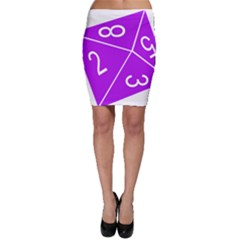 Number Purple Bodycon Skirt