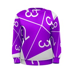Number Purple Women s Sweatshirt by Mariart