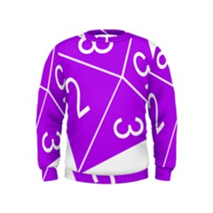 Number Purple Kids  Sweatshirt by Mariart