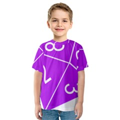 Number Purple Kids  Sport Mesh Tee by Mariart