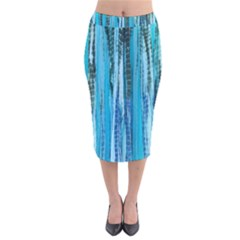 Line Tie Dye Green Kaleidoscope Opaque Color Velvet Midi Pencil Skirt by Mariart
