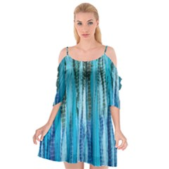Line Tie Dye Green Kaleidoscope Opaque Color Cutout Spaghetti Strap Chiffon Dress by Mariart