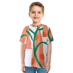 Portraits Plants Carrot Polka Dots Orange Green Kids  Sport Mesh Tee by Mariart