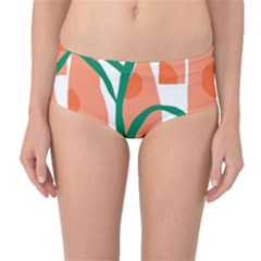 Portraits Plants Carrot Polka Dots Orange Green Mid-waist Bikini Bottoms by Mariart
