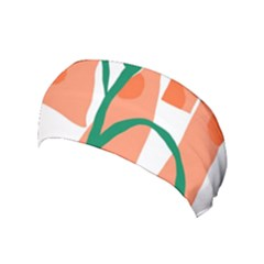 Portraits Plants Carrot Polka Dots Orange Green Yoga Headband