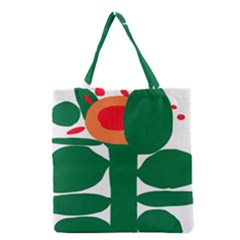 Portraits Plants Sunflower Green Orange Flower Grocery Tote Bag by Mariart
