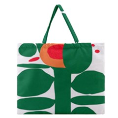 Portraits Plants Sunflower Green Orange Flower Zipper Large Tote Bag by Mariart