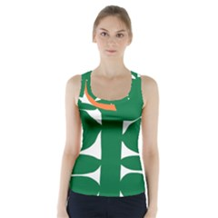Portraits Plants Sunflower Green Orange Flower Racer Back Sports Top