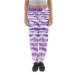 Original Feather Opaque Color Purple Women s Jogger Sweatpants by Mariart