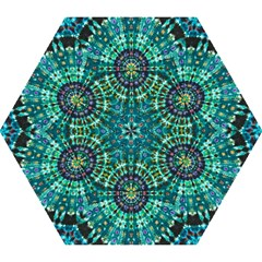 Peacock Throne Flower Green Tie Dye Kaleidoscope Opaque Color Mini Folding Umbrellas by Mariart
