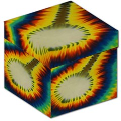 Red Blue Yellow Green Medium Rainbow Tie Dye Kaleidoscope Opaque Color Storage Stool 12