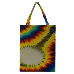 Red Blue Yellow Green Medium Rainbow Tie Dye Kaleidoscope Opaque Color Classic Tote Bag by Mariart