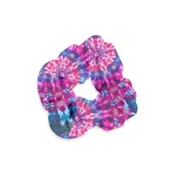 Red Blue Tie Dye Kaleidoscope Opaque Color Circle Velvet Scrunchie by Mariart