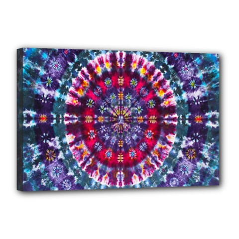 Red Purple Tie Dye Kaleidoscope Opaque Color Canvas 18  X 12  by Mariart