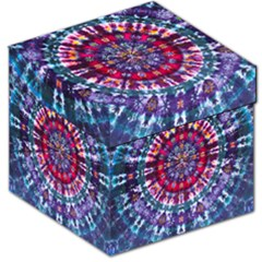 Red Purple Tie Dye Kaleidoscope Opaque Color Storage Stool 12   by Mariart