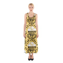 Trophy Beers Glass Drink Sleeveless Maxi Dress by Mariart