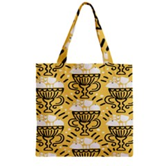Trophy Beers Glass Drink Zipper Grocery Tote Bag by Mariart