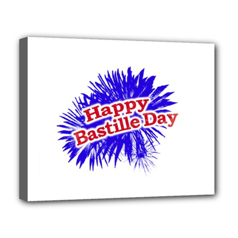 Happy Bastille Day Graphic Logo Deluxe Canvas 20  X 16   by dflcprints