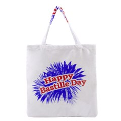 Happy Bastille Day Graphic Logo Grocery Tote Bag by dflcprints