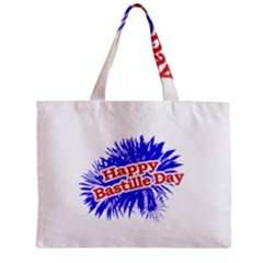 Happy Bastille Day Graphic Logo Zipper Mini Tote Bag by dflcprints