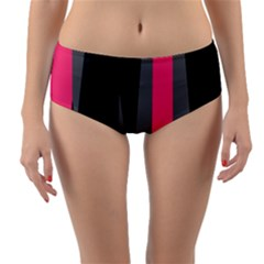 Hot Paint Reversible Mid Waist Bikini Bottoms