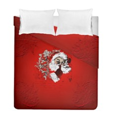 Funny Santa Claus  On Red Background Duvet Cover Double Side (full/ Double Size) by FantasyWorld7