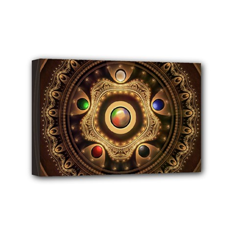 Gathering The Five Fractal Colors Of Magic Mini Canvas 6  X 4  by jayaprime