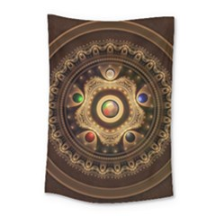 Gathering The Five Fractal Colors Of Magic Small Tapestry