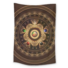Gathering The Five Fractal Colors Of Magic Large Tapestry by jayaprime