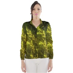 Beautiful Emerald Fairy Ferns In A Fractal Forest Wind Breaker (women) by jayaprime