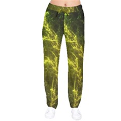 Beautiful Emerald Fairy Ferns In A Fractal Forest Drawstring Pants by jayaprime