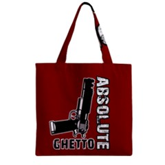 Absolute Ghetto Zipper Grocery Tote Bag by Valentinaart