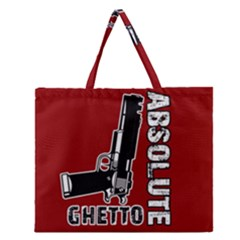 Absolute Ghetto Zipper Large Tote Bag by Valentinaart