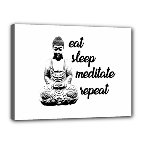 Eat, Sleep, Meditate, Repeat  Canvas 16  X 12  by Valentinaart