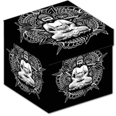 Ornate Buddha Storage Stool 12