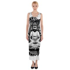 Ornate Buddha Fitted Maxi Dress by Valentinaart